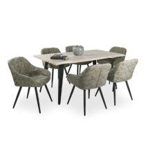 TINA asztal 6 db MONACO székkel