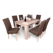 Berta 6 személyes étkezőgarnitúra, Félix asztallal