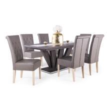 Royal 6 személyes étkezőgarnitúra Dorka asztallal