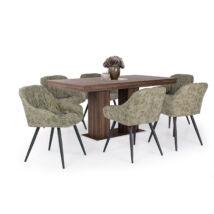 Corfu 6 személyes étkezőgarnitúra Monaco székkel