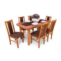 London 6 személyes étkezőgarnitúra, Piano asztallal