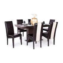 Berta mix 6 személyes étkezőgarnitúra, Flóra asztallal