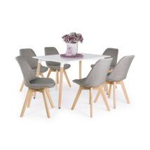 Lili 6 személyes étkezőgarnitúra Korvin asztallal