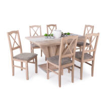 Niló 6 személyes étkezőgarnitúra Dorka asztallal