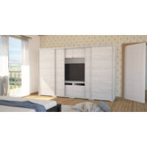 Bond Tv-s gardrób 318 cm bútorlapos ajtó LED  világítás nélkül