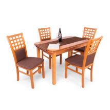 Kármen 4 személyes étkezőgarnitúra, Piano asztallal