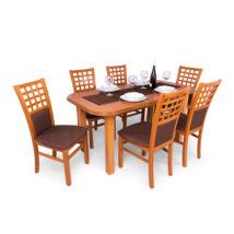 Kármen 6 személyes étkezőgarnitúra , Piano asztallal