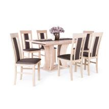 Milano 6 személyes étkezőgarnitúra Bella asztallal