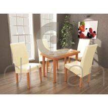 Berta 4 személyes étkezőgarnitúra, Piano asztallal