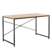 Íróasztal tölgy/fekete, 150x60 cm, MELLORA