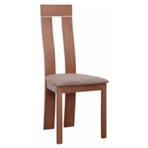 Fa szék, cseresznye/barna szövet, DESI