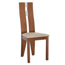 Fa szék, cseresznye/bézs szövet, BONA