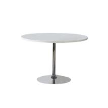 Étkezőasztal, fehér, extra magasfényű HG, PAULIN