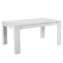 Étkezőasztal, fehér, laminált DTD, TOMY NEW
