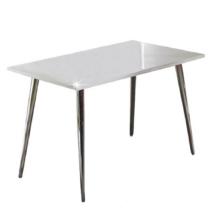 Étkezőasztal 120x70, MDF + króm, extra fényes HG, PEDRO