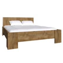ágy, sötét tölgy lefkas, 160x200, MONTANA L1