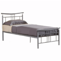 ágy ágyráccsal, ezüst fém, 90x200, DORADO