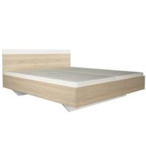 Dupla ágy, tölgy sonoma/fehér, 160x200, GABRIELA