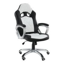 Irodai szék, textilbőr fekete/fehér, LOTAR