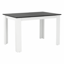 Étkezőasztal, fehér/fekete, 120x80, KRAZ