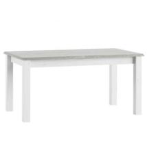 Nyitható étkezőasztal, fehér, LIONA LM 88