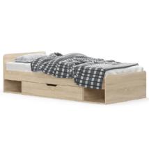 Egyszemélyes ágy 1S/90, sonoma tölgyfa, TEYO