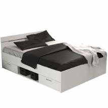 Ágykeret, 140x200, fehér, MICHIGAN