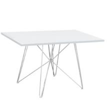 Étkezőasztal MDF/fehér/HG fény, ARTEM