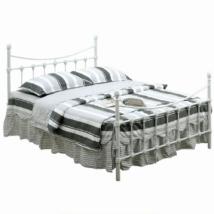 Fém ágy lécezett ráccsal, fém (fehér), 90x200, NIEVES New