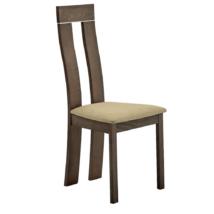 Fa szék, bükk merlot/barna anyag, DESI