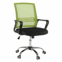 Irodai szék, háló zöld/fekete anyag, APOLO