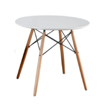 Étkezőasztal,  fehér/bükk, GAMIN NEW 80