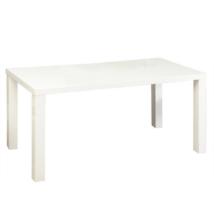 Étkézőasztal meghosszabítható, fehér magasfényű HG, ASPER New TYP 1