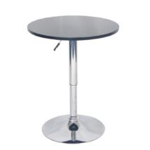Bárasztal magassága állítható, fekete, BRANY NEW