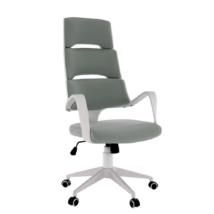 Irodai szék, világosszürke/fehér, VISAR