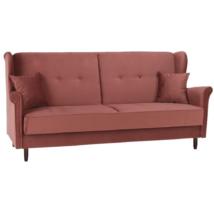 Kinyitható kanapé, öreg rózsaszín szövet, COLUMBUS