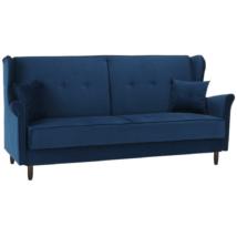 Kinyitható kanapé, kék szövet, COLUMBUS