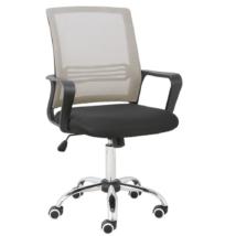 Irodai szék, hálószövet szürke barna/szövet fekete, APOLO