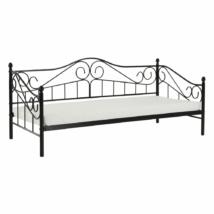 Fém ágy, fekete, 90x200, DAINA