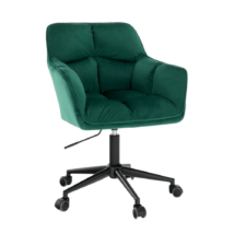 Irodai szék, smaragd selymes szövet/fém, HAGRID