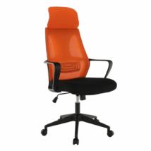 Irodai szék, fekete/narancssárga, TAXIS