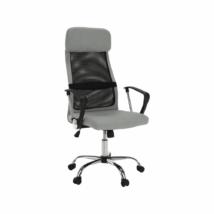 Irodai fotel, szürke/fekete, FABRY NEW