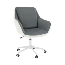Irodai fotel, fehér/szürke, IMELDA