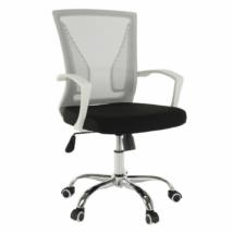 Irodai szék, szürke/fekete/fehér/króm, IZOLDA