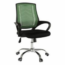 Irodai szék, zöld/fekete/króm, IMELA TYP 2