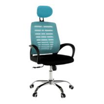 Irodai szék, kék/fekete, ELMAS