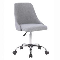Irodai szék, szürke/króm, EDIZ