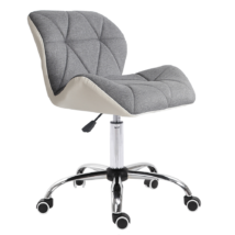 Irodai szék, fehér/szürke/króm, BADAR