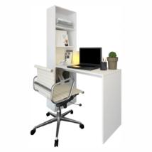 Többfunkciós íróasztal, fehér, JASMIN