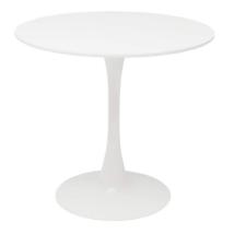 Étkezőasztal, kerek, fehér, matt, REVENTON